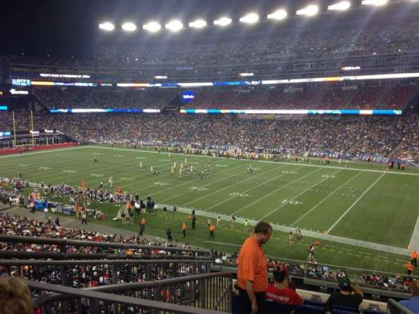 Gillette Stadium, section: 205, row: 9, seat: 21
