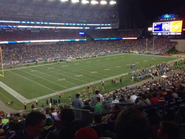Gillette Stadium, section: 215, row: 3, seat: 4
