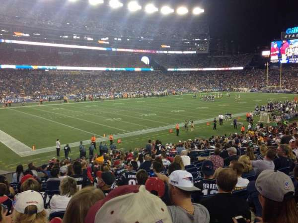 Gillette Stadium, section: 115, row: 26, seat: 15