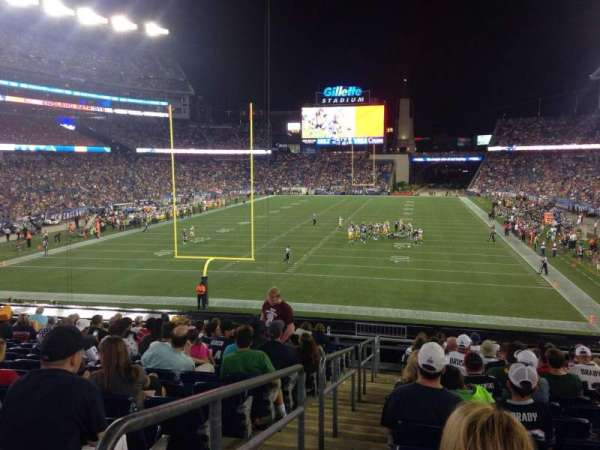 Gillette Stadium, section: 119, row: 22, seat: 24