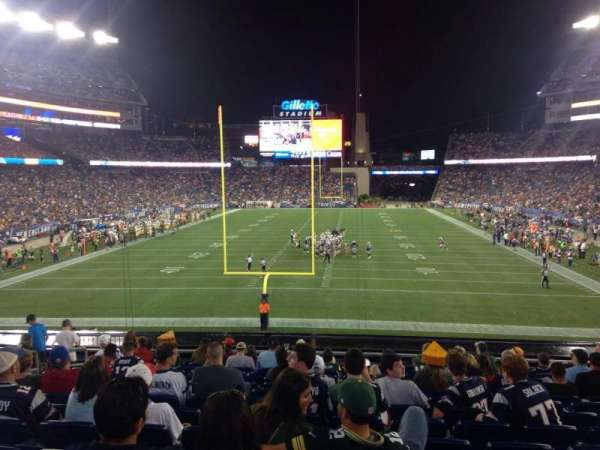 Gillette Stadium, section: 120, row: 31, seat: 15