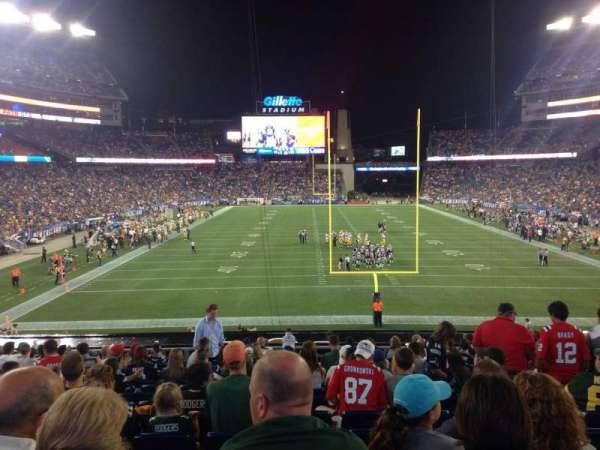 Gillette Stadium, section: 121, row: 33, seat: 8
