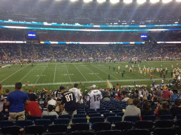 Gillette Stadium, section: 134, row: 32, seat: 11