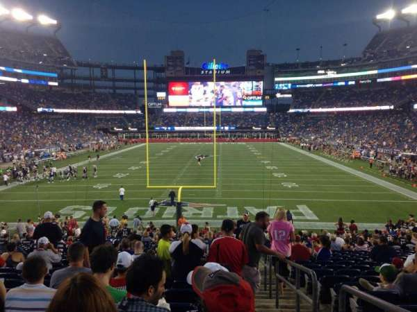 Gillette Stadium, section: 143, row: 28, seat: 1