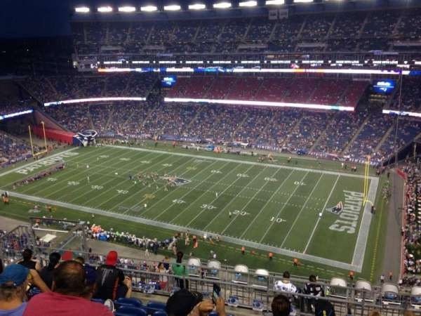 Gillette Stadium, section: 327, row: 14, seat: 14