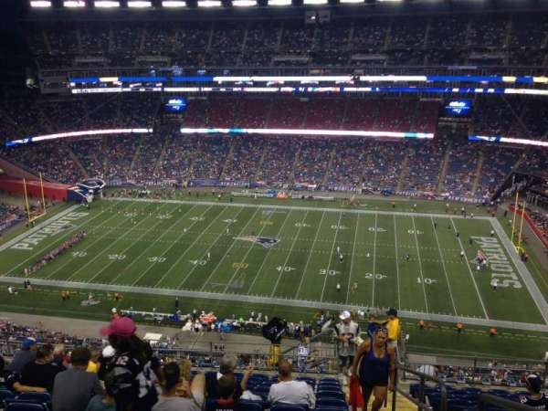 Gillette Stadium, section: 330, row: 19, seat: 1
