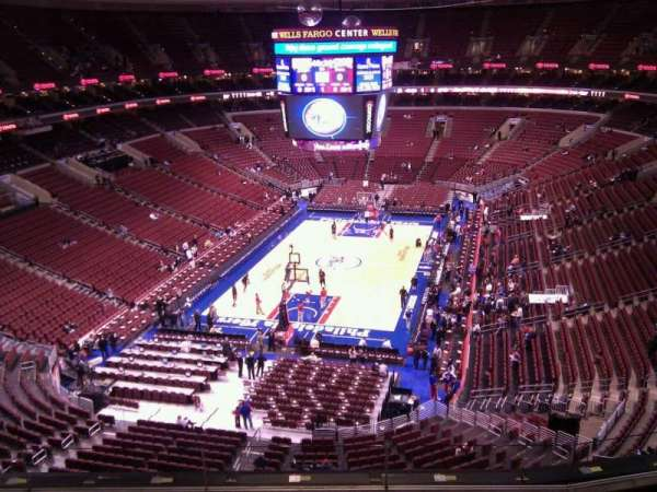 Wells Fargo Center, section: 220, row: 6, seat: 4