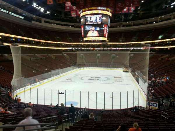 Wells Fargo Center, section: 120, row: 23, seat: 2