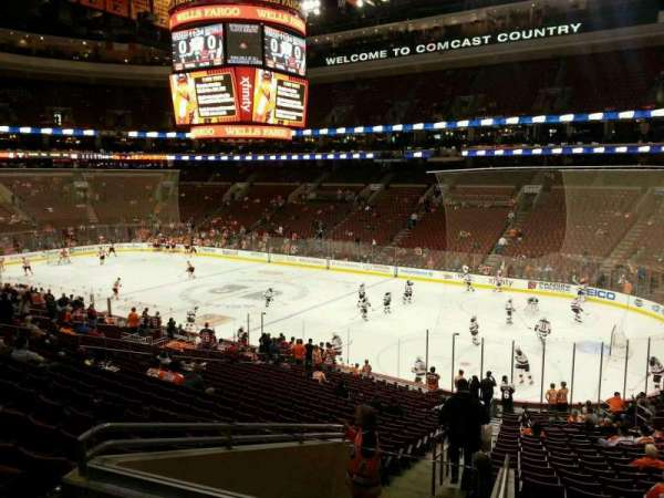 Wells Fargo Center, section: Club Box 4, row: 3, seat: 1