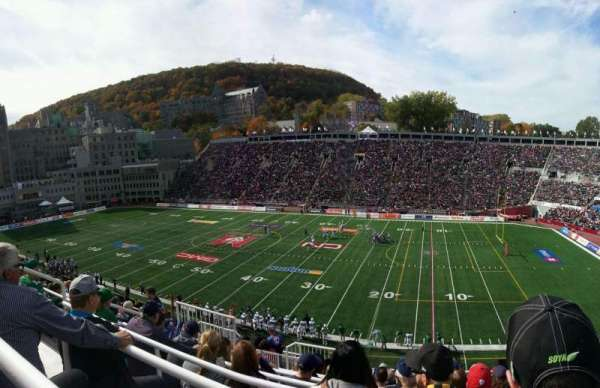Percival Molson Memorial Stadium, section: s2, row: 10, seat: 10