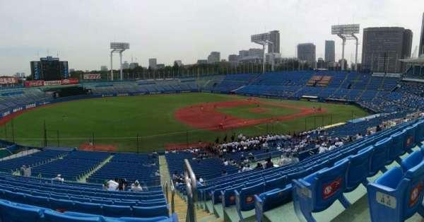 Jingu Stadium, section: 12, row: 45, seat: 154