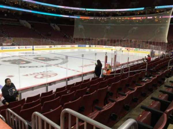 Wells Fargo Center, section: 124, row: 9, seat: 7