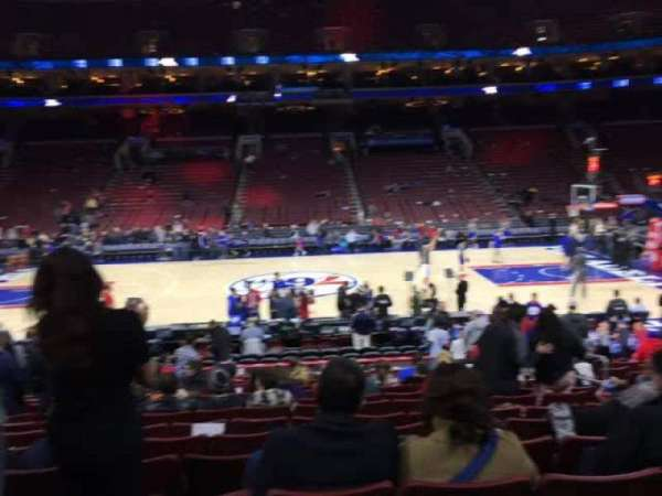Wells Fargo Center, section: 101, row: 15, seat: 10