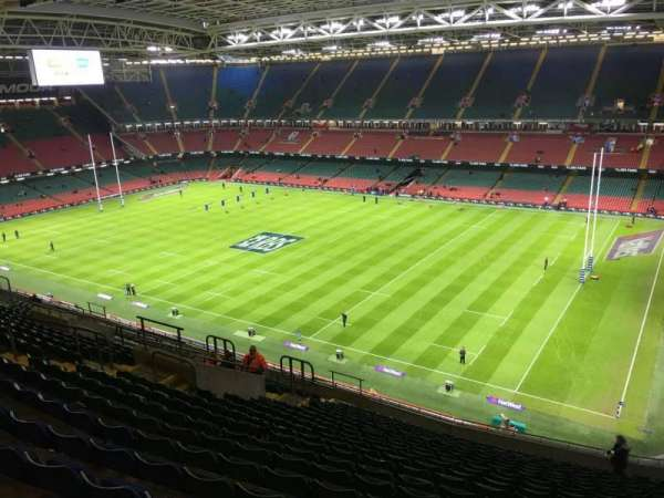 Principality Stadium, section: U26, row: 20, seat: 20