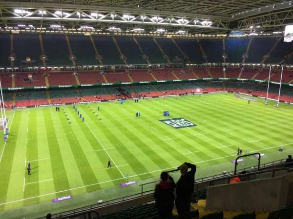 Principality Stadium, section: U33, row: 14, seat: 19