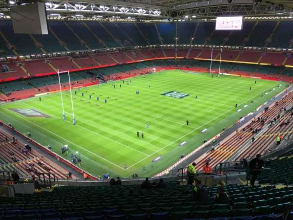 Principality Stadium, section: U36, row: 25, seat: 20