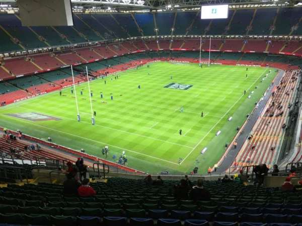 Principality Stadium, section: U37, row: 24, seat: 17