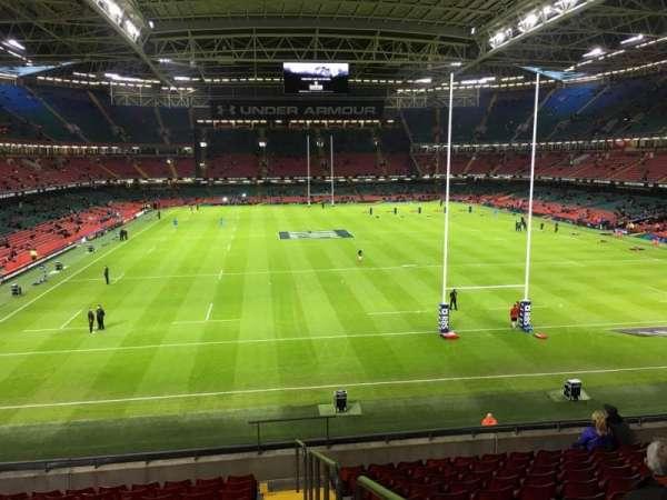Principality Stadium, section: M20, row: 11, seat: 26