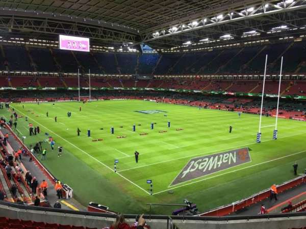 Principality Stadium, section: M2, row: 12, seat: 16