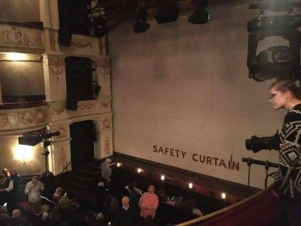 Garrick Theatre, section: Circle, row: B, seat: 1