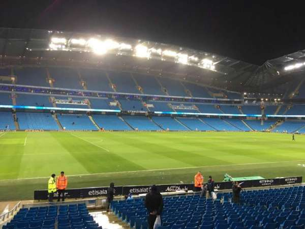 Etihad Stadium (Manchester), section: 131, row: U, seat: 820