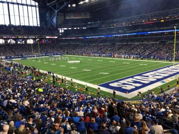 Lucas Oil Stadium, section: 233, row: 1, seat: 1
