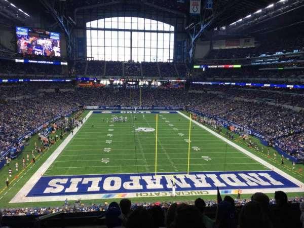 Lucas Oil Stadium, section: 327, row: 4, seat: 20