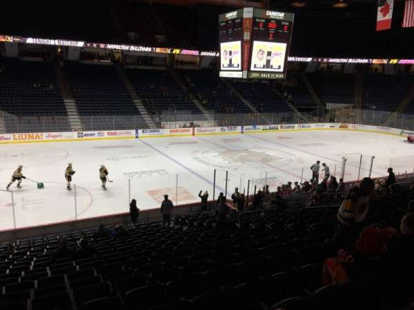 FirstOntario Centre, section: 110, row: 20, seat: 10
