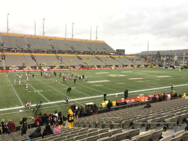 Tim Hortons Field, section: 108, row: 19, seat: 8