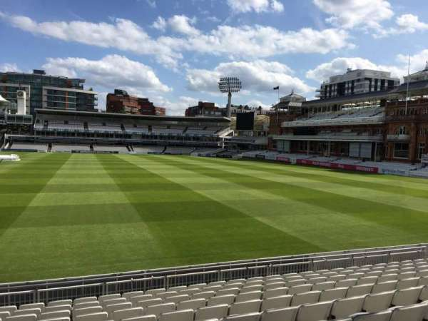 Lord's Cricket Ground, section: Grandstand A, row: 10, seat: 37