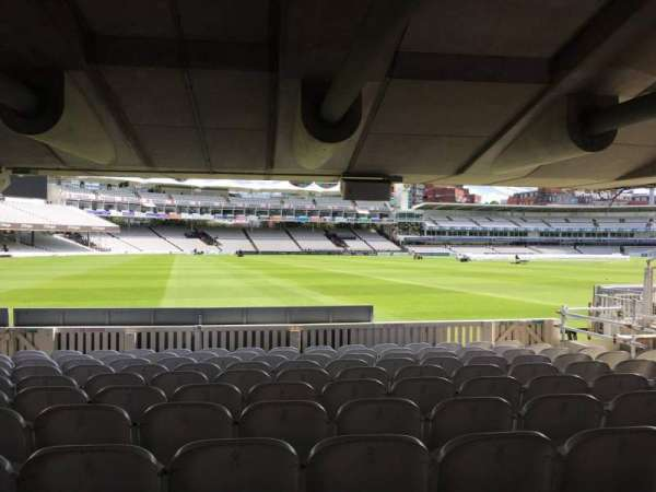 Lord's Cricket Ground, section: Grandstand D, row: 10, seat: 10