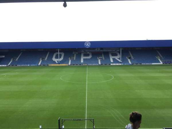 Loftus Road, section: D, row: L, seat: 115