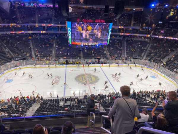 T-Mobile Arena, section: 222, row: G, seat: 18