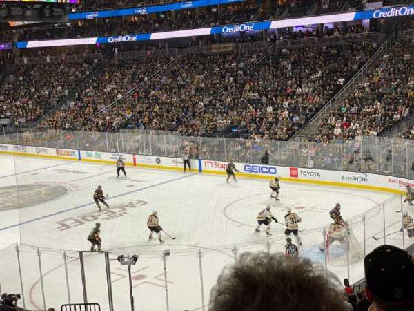 T-Mobile Arena, section: 9, row: W, seat: 3