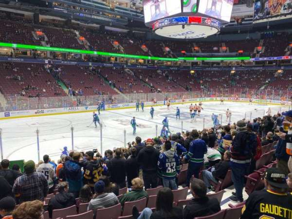 Rogers Arena, section: 119, row: 14, seat: 106