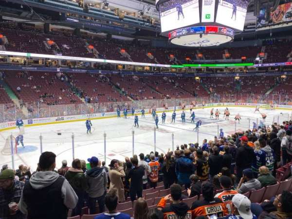 Rogers Arena, section: 120, row: 6, seat: 3
