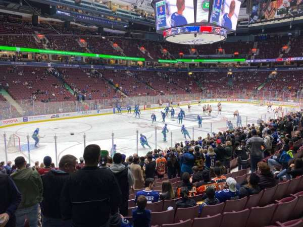 Rogers Arena, section: 120, row: 16, seat: 3