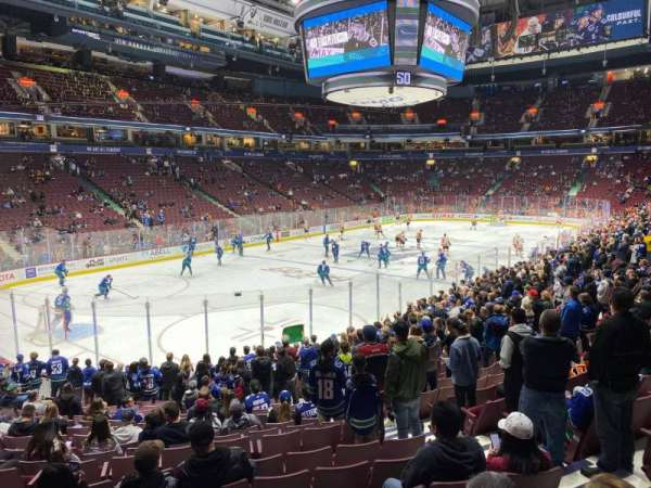 Rogers Arena, section: 120, row: 17, seat: 6
