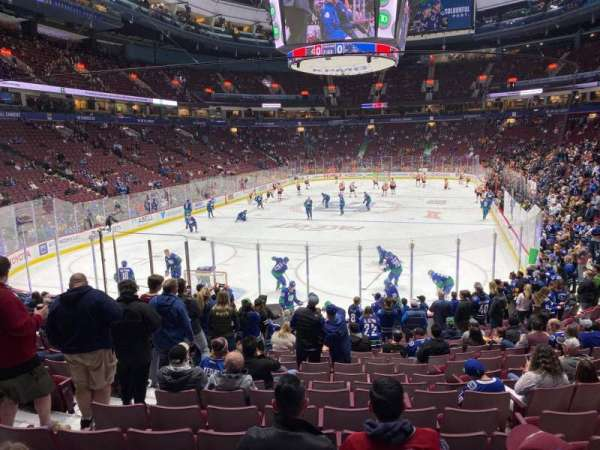 Rogers Arena, section: 122, row: 16, seat: 7