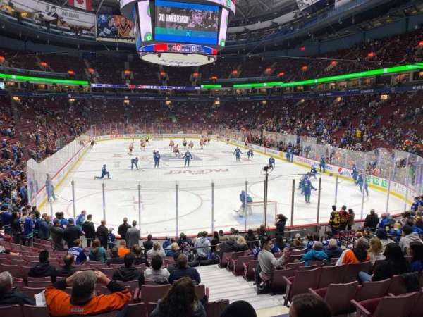 Rogers Arena, section: 101, row: 16, seat: 103