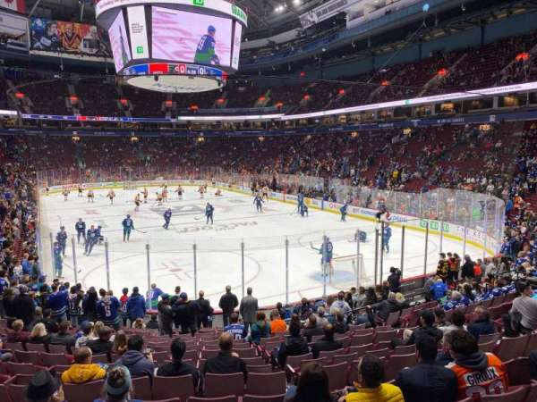 Rogers Arena, section: 102, row: 16, seat: 6