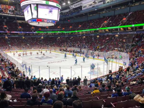 Rogers Arena, section: 102, row: 18, seat: 102