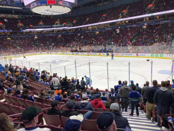 Rogers Arena, section: 103, row: 12, seat: 101