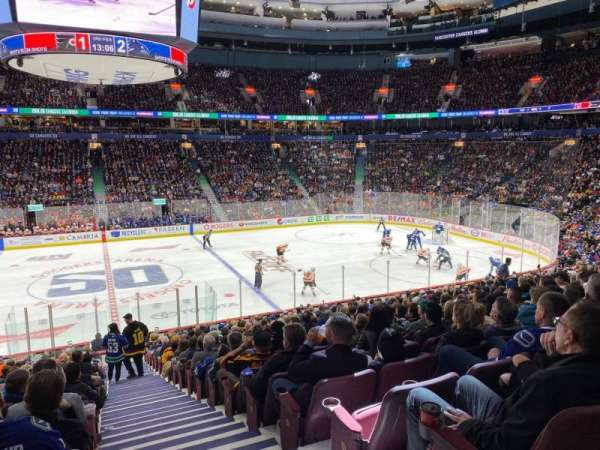 Rogers Arena, section: 106, row: 22, seat: 101
