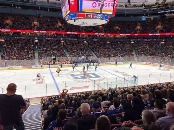 Rogers Arena, section: 107, row: 20, seat: 1