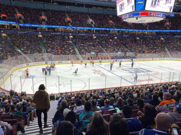 Rogers Arena, section: 106, row: 20, seat: 1