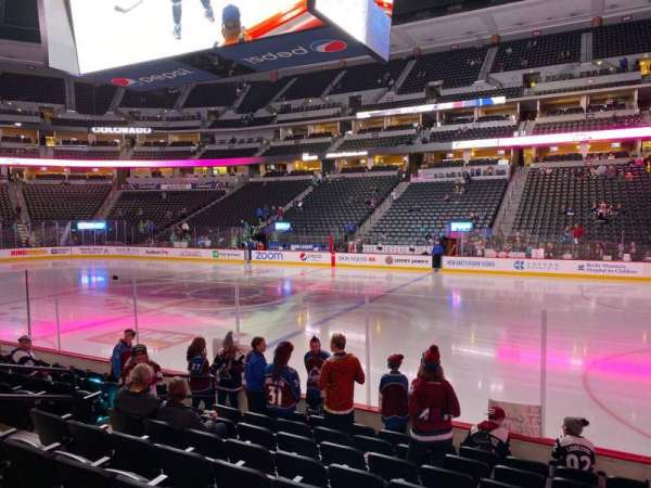 Pepsi Center, section: 122, row: 9, seat: 10