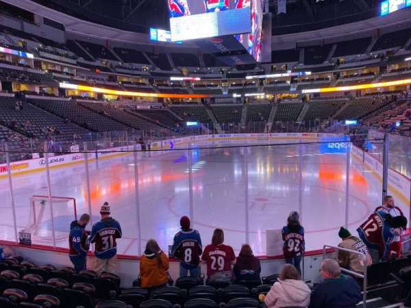Pepsi Center, section: 110, row: 8, seat: 5
