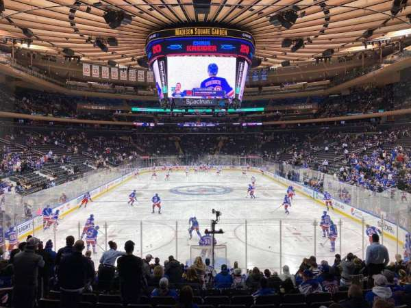 Madison Square Garden, section: 102, row: 14, seat: 10
