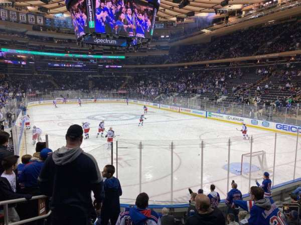 Madison Square Garden, section: 111, row: 10, seat: 4